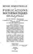 Revue Semestrielle Des Publications Math Matiques