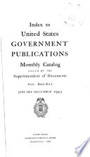 United States Government Publications Monthly Catalog
