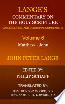 Lange S Commentary On The Holy Scripture Volume 6