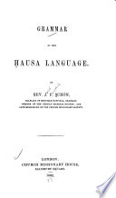 Grammar of the Hausa Language Book PDF