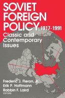 Soviet Foreign Policy Pdf/ePub eBook