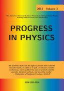 Progress in Physics, vol. 3/2013