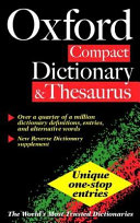 The Oxford Compact Dictionary   Thesaurus