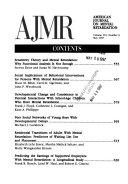 American Journal of Mental Retardation Book