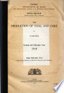 The Production of Coal and Coke in Canada
