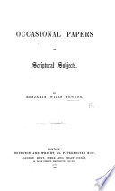 Occasional Papers on Scriptural Subjects  no  1 4