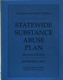 Governor DiPrete s Statewide Substance Abuse Plan