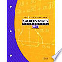 Saxon Math Homeschool 8/7 with Prealgebra