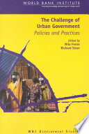 The Challenge Of Urban Government