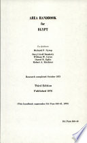 Area Handbook for Egypt