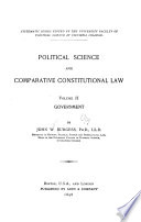 Political Science and Comparative Constitutional Law...: Government
