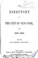 The Directory of the City of New York