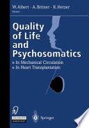 Quality of Life and Psychosomatics Book