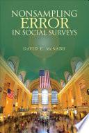 Nonsampling Error in Social Surveys