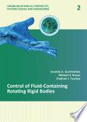 Control of Fluid Containing Rotating Rigid Bodies