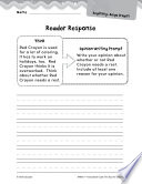 The Day the Crayons Quit Reader Response Writing Prompts Book PDF