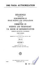 1982 NASA authorization