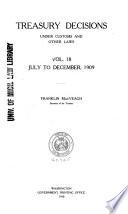 Treasury Decisions Book