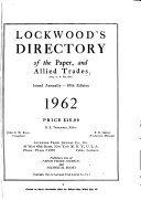 Lockwood s Directory of the Paper and Allied Trades