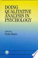 Doing Qualitative Analysis in Psychology