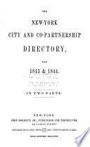 The New York City and Co-partnership Directory