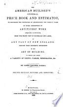 The American Builder s General Price Book and Estimator