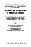 International Bibliography of Historical Sciences Book