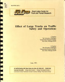 Effect of Large Trucks on Traffic Safety and Operations Book