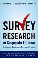 Survey Research in Corporate Finance