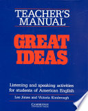 Great Ideas Teacher's Manual