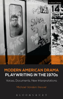 Modern American Drama  Playwriting in the 1970s