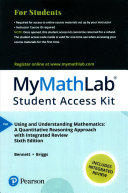MyMathLab with Pearson EText    Standalone Access Card    for Using and Understanding Mathematics with Integrated Review