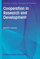 Cooperation in Research and Development Book PDF