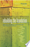 Rebuilding the Foundation