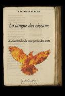 Pdf La langue des oiseaux Telecharger