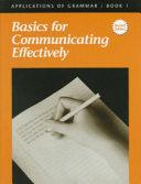 Basics for Communicating Effectively