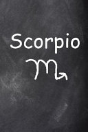 2020 Daily Planner Scorpio Symbol Zodiac Sign Horoscope Chalkboard 388 Pages