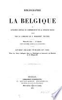 Bibliographie de la Belgique