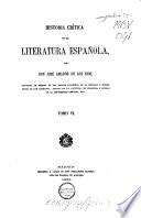 Historia Crítica de la Literatura Espanola  , Band 6