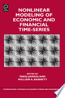 Nonlinear Modeling of Economic and Financial Time Series Book