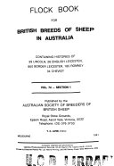 Flock Book for British Breeds of Sheep in Australia