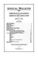 Annual Bulletin