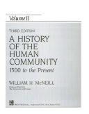 A History of the Human Community  1500 to the present Book