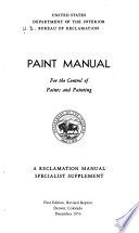 Paint Manual for the Control of Paints and Painting Book