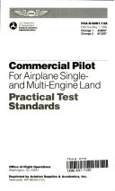 Commercial Pilot for Airplane Single  and Multi engine Land