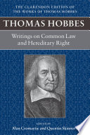 Thomas Hobbes Writings On Common Law And Hereditary Right