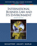 Cover of International Business Law and Its Environment