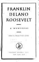 Franklin Delano Roosevelt  a Memorial Book
