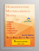 HOMOEOPATHIC MATERIA MEDICA NOTES