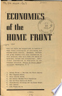 Economics of the Home Front